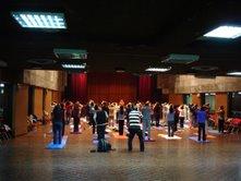 Sukshma yoga evening class in Caritas Center, HK